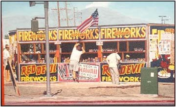 red devil fireworks stand