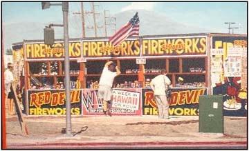 red devil fireworks stand